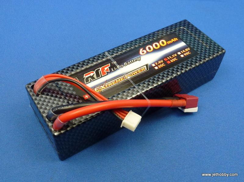 RTF 6000-3S-65C-T - Lipo Battery 6000mAh 11.1V 65C T-Plug Hard Case