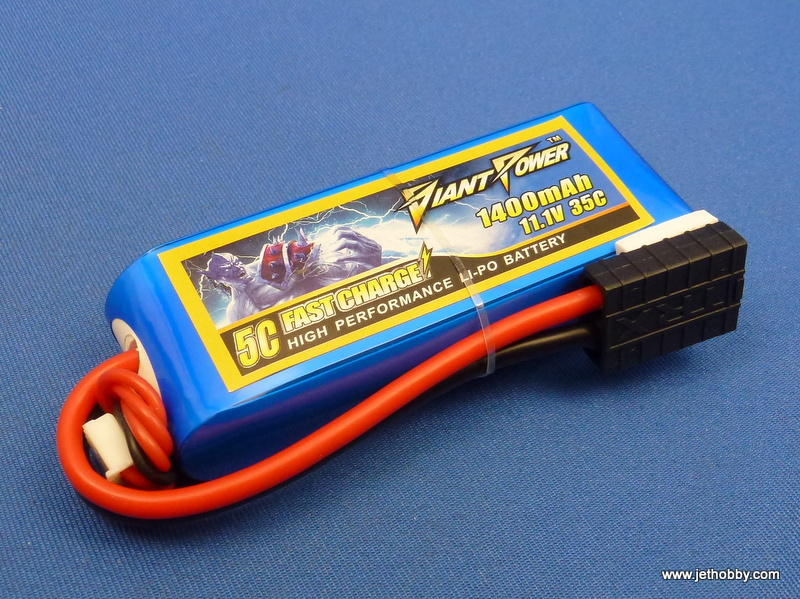 Giant Power 1400-3S-35C-TRX - Lipo Battery  1400mAh 11.1V 35C Traxxas