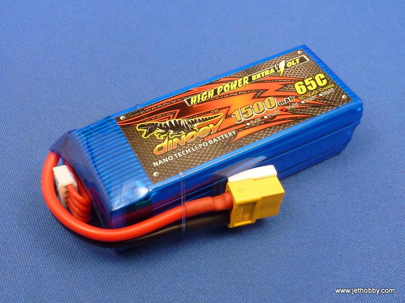 Dinogy 1500-4S-65C-XT60 - Lipo Battery 1500mAh 14.8V 65C XT-60