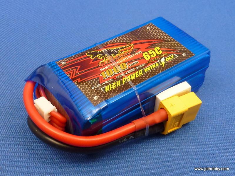 Dinogy 1000-4S-65C-XT60 - Lipo Battery 1000mAh 14.8V 65C XT-60