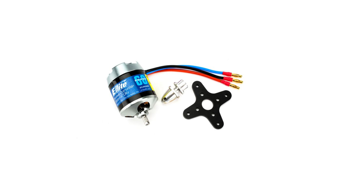 E-Flite EfLM4060B - Power 60 Brushless Outrunner Motor, 470Kv