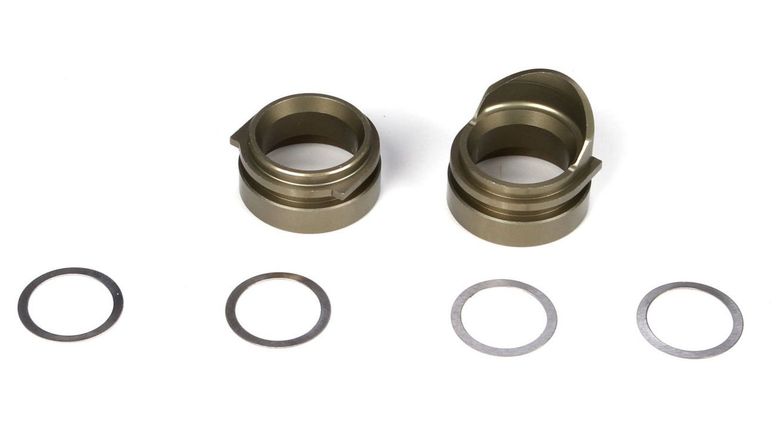 TLR3100 - Rear Gearbox Bearing Inserts, Alum (TEN