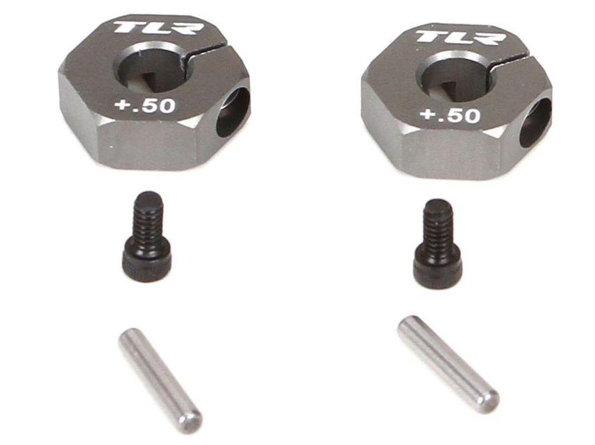 TLR332014 - Rear Hex, +0.5mm Width, Aluminum (SCTE)