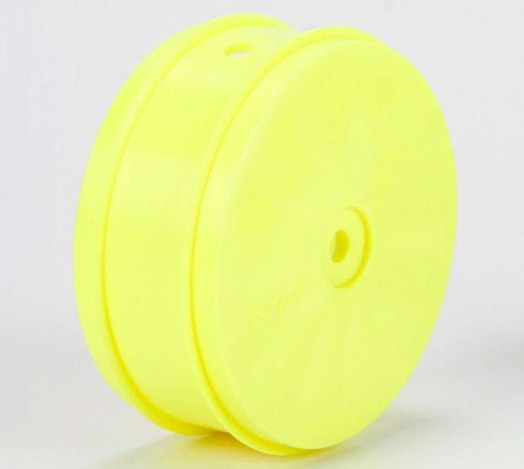 TLR43014 - 61mm Front Wheel, 12mm Hex, Yellow (22-4)