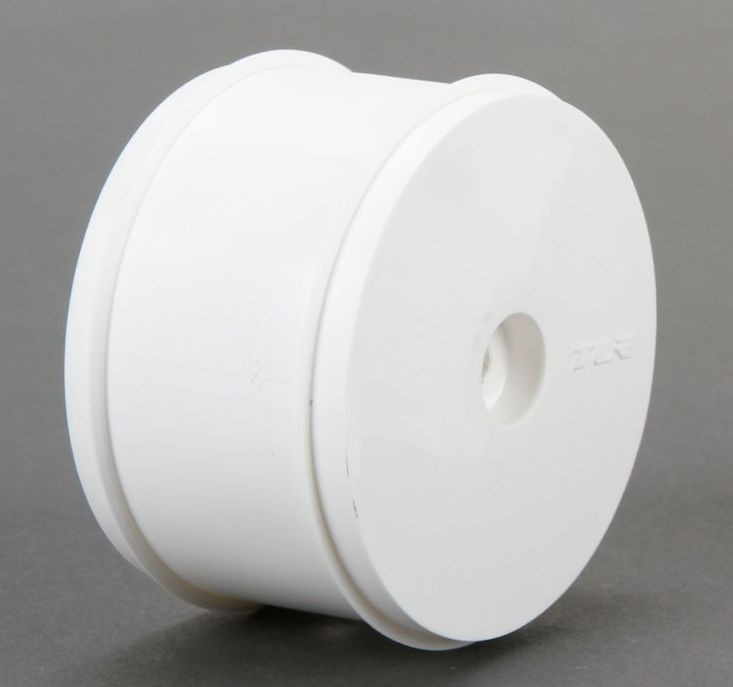 TLR43015 - 61mm Rear Wheel, 12mm Hex, White (22/22-4)
