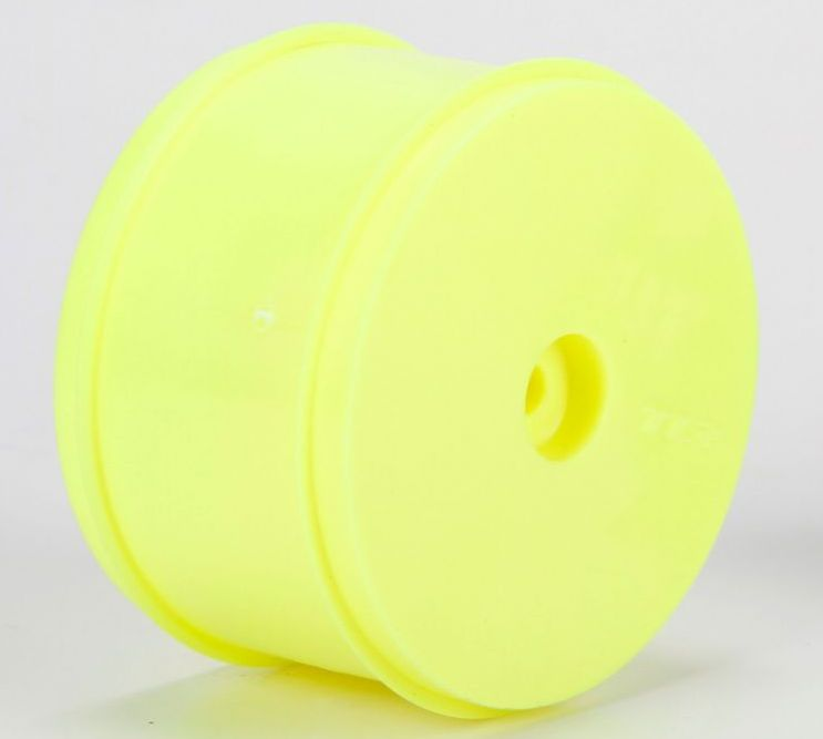 TLR43016 - 61mm Rear Wheel, 12mm Hex, Yellow (22/22-4)