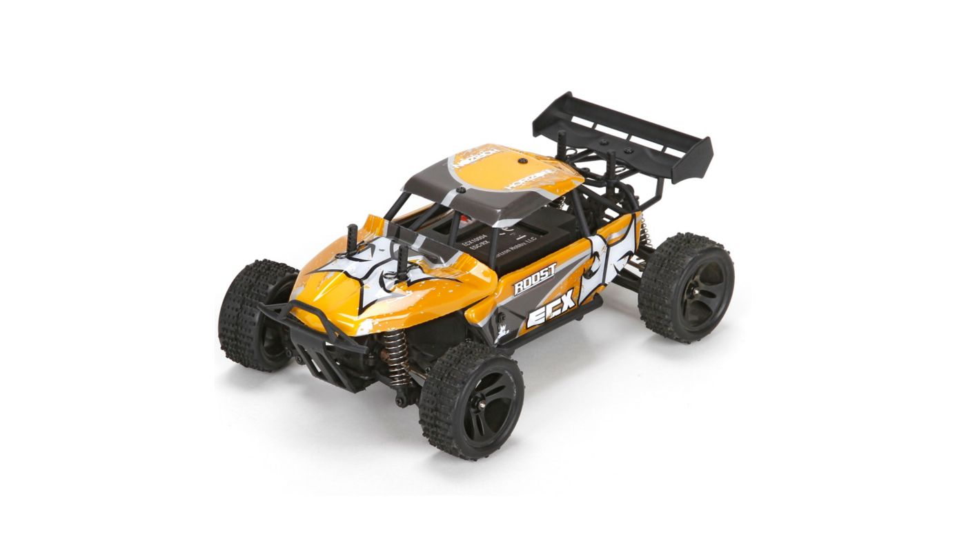 ECX ECX00015T2 - 1/18 Roost 4WD Desert Buggy RTR, Grey/Yellow