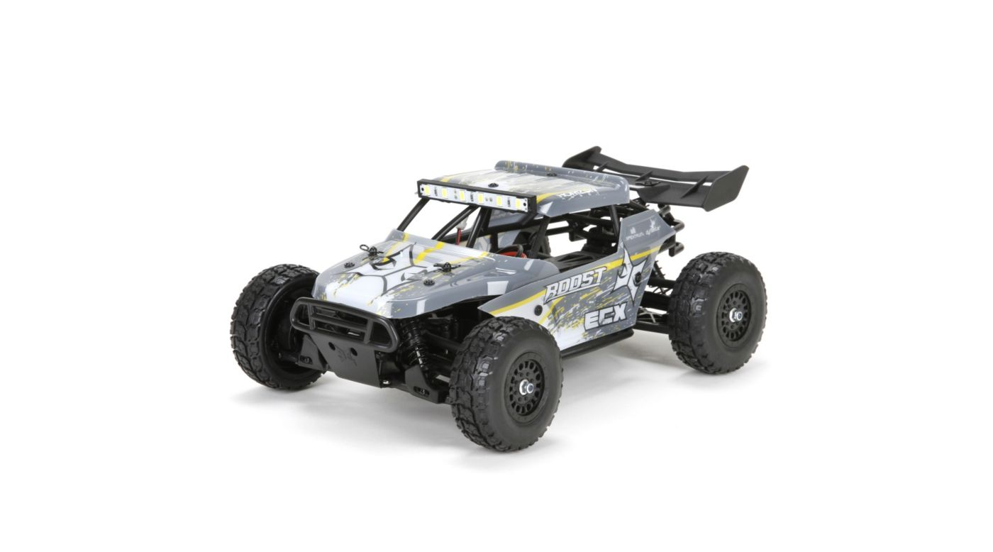 ECX ECX01005T2 - 1/18 Roost 4WD Desert Buggy RTR, Grey/Yellow