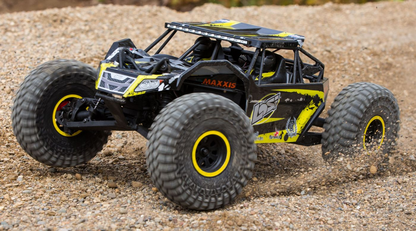 Losi LOS03009T1 - 1/10 Rock Rey 4WD RTR with AVC, Yellow