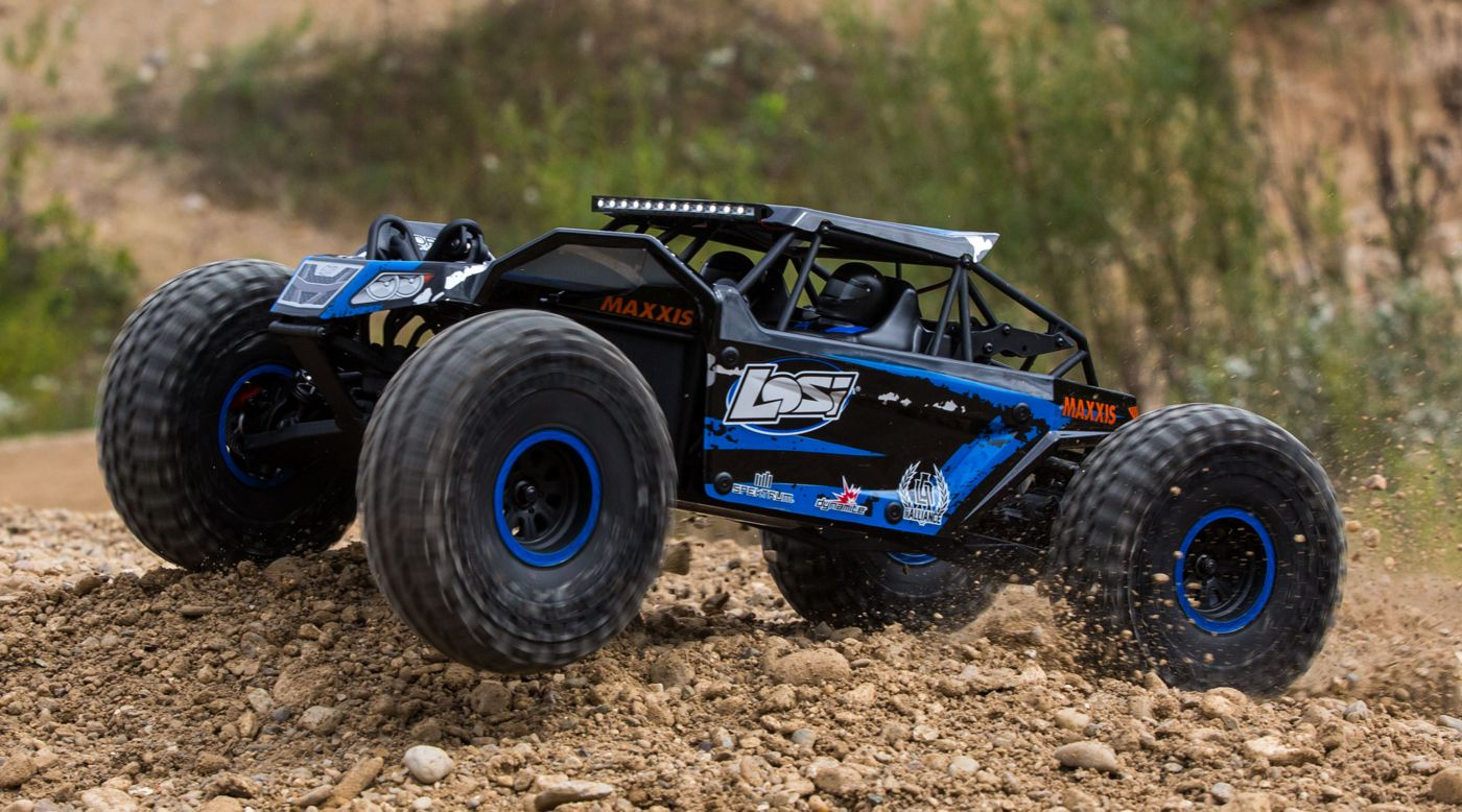 Losi LOS03009T2 - 1/10 Rock Rey 4WD RTR with AVC, Blue
