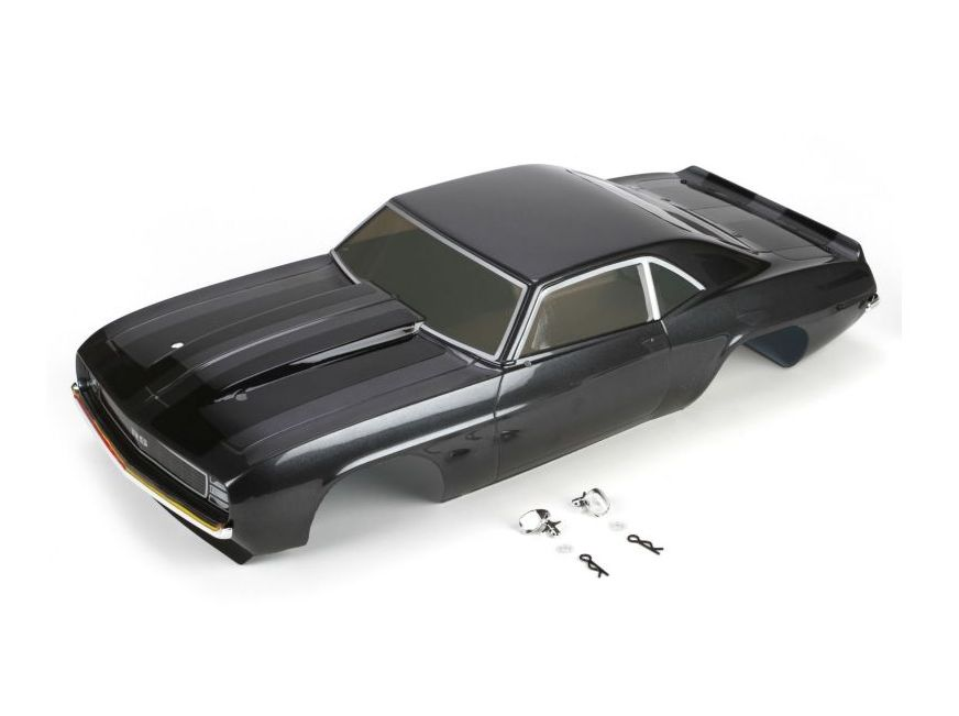 Vaterra VTR230010 - Body Set, Painted Gun Metal: 1/10 1969 Camaro RS, V100
