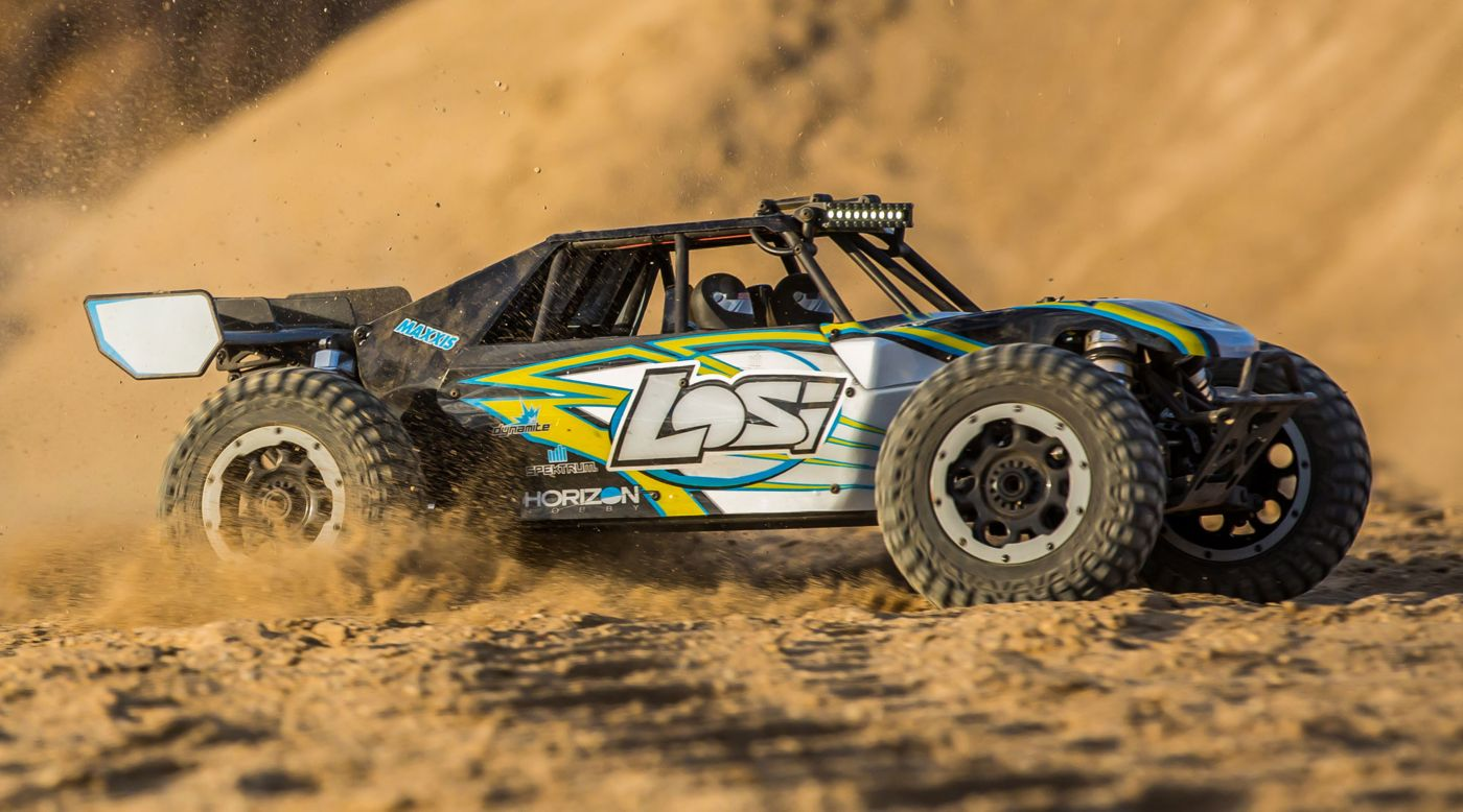 Losi LOS05012T1 - 1/5 Desert Buggy XL-E 4WD Electric RTR with AVC, Black