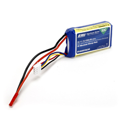E-flite EFLB4503SJ50 - 450mAh 3S 11.1V 50C LiPo, 18AWG JST