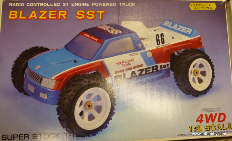 Hong Nor 2104 - Blazer SST, 1:8 Nitro Truck Kit with Muffler
