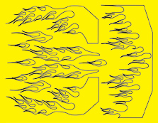 Parma 10828 - Phat Flames Design Paint Mask