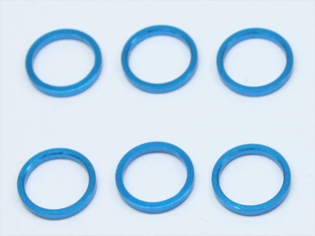 Square SGE-8610TB - M6 x 7.4 x 1mm Spacer, Tamiya Blue (Tamiya F1 Axle Shaft)
