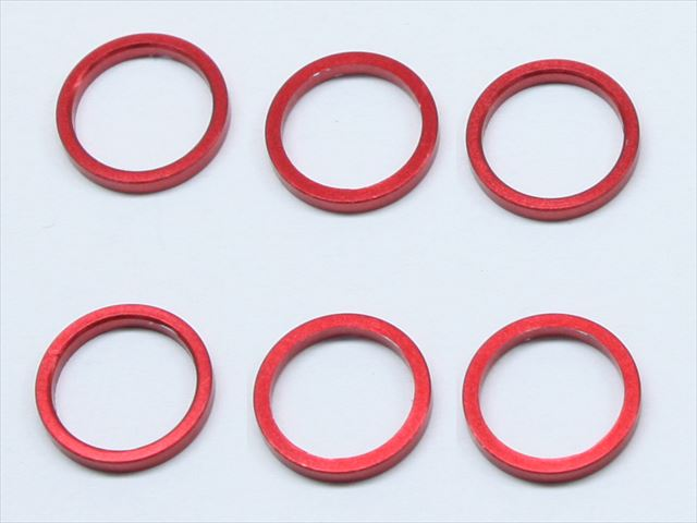Square SGE-8615R - M6 x 7.4 x 1.5mm Spacer, Red (Tamiya F1 Axle Shaft)