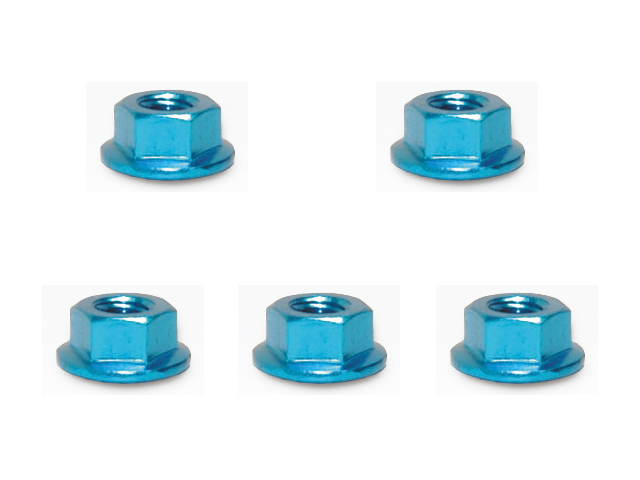 Square SGE-14STB - M4 Alum Serrated Nut, Tamiya Blue