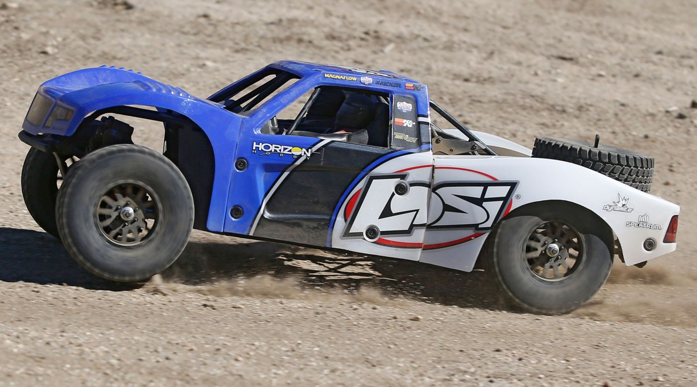 Losi LOS03008T2 - 1/10 Baja Rey 4WD RTR Desert Truck with AVC, Blue