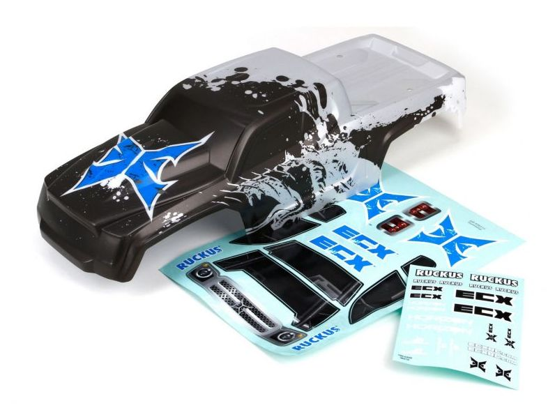 ECX ECX230002 - Body, Charcoal/Silver (1/10 2WD Ruckus)