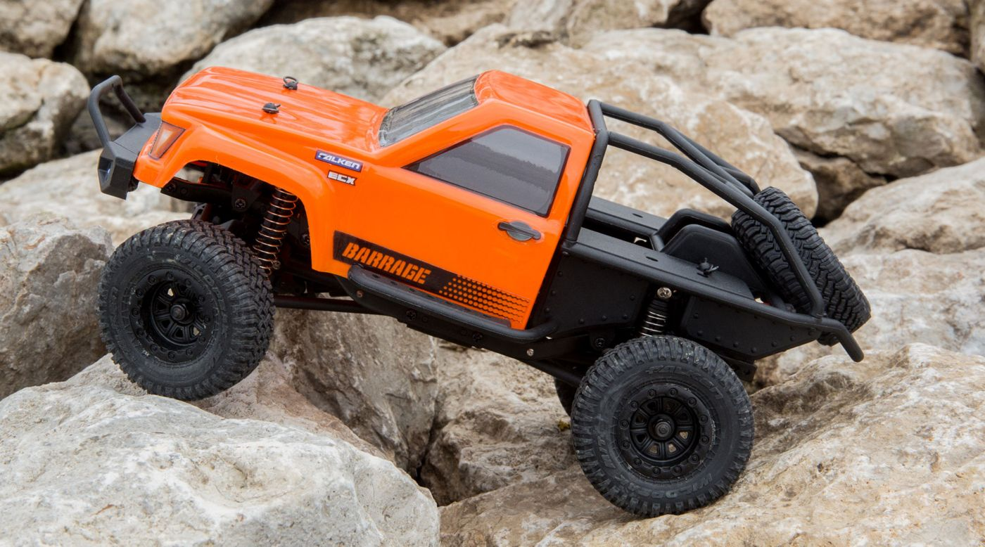 ECX 00017T1 - 1/24 Barrage 4WD Scaler Rock Crawler RTR, Orange