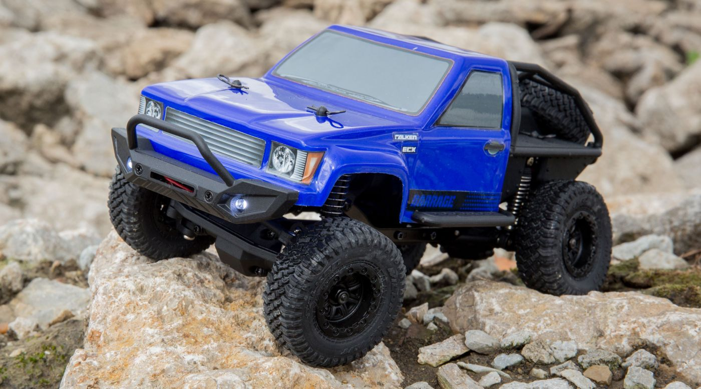 ECX 00017T2 - 1/24 Barrage 4WD Scaler Rock Crawler RTR, Blue