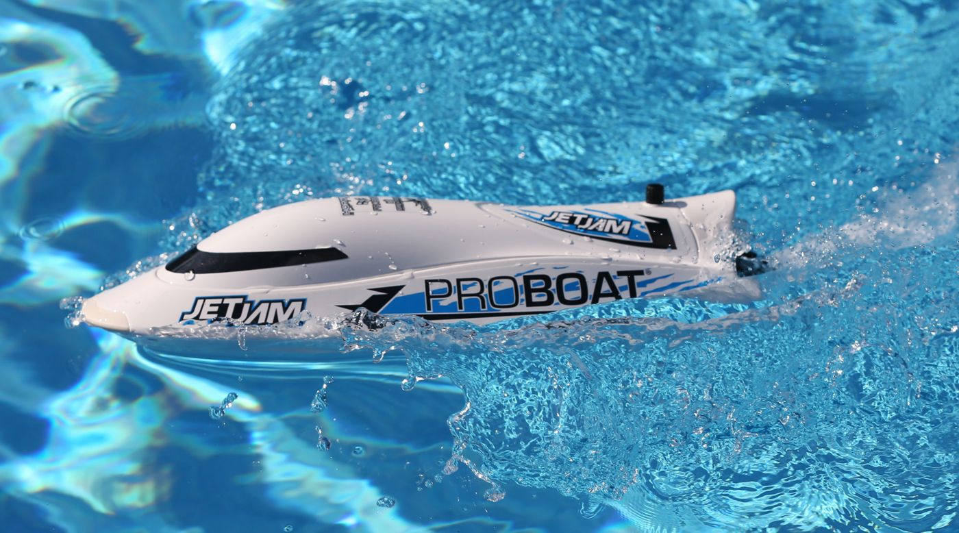 ProBoat PRB08031T2 - Jet Jam 12 inches Pool Racer, White, RTR