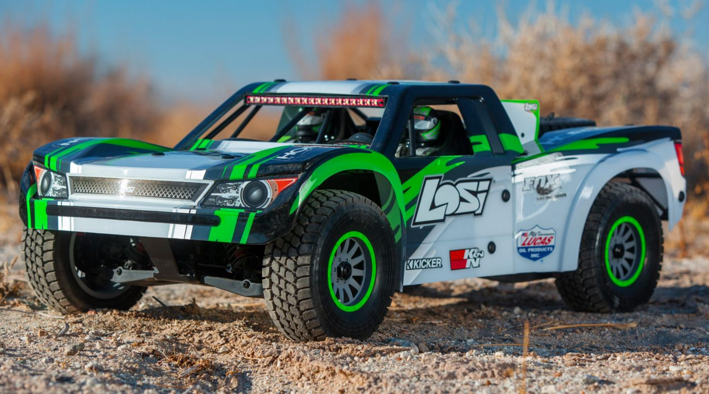 Losi LOS05013T1 - 1/6 Super Baja Rey 4WD Desert Truck Brushless RTR with AVC, Black