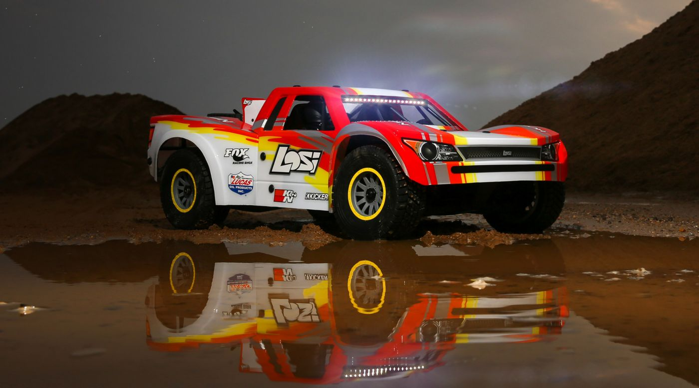 Losi LOS05013T2 - 1/6 Super Baja Rey 4WD Desert Truck Brushless RTR with AVC, Red