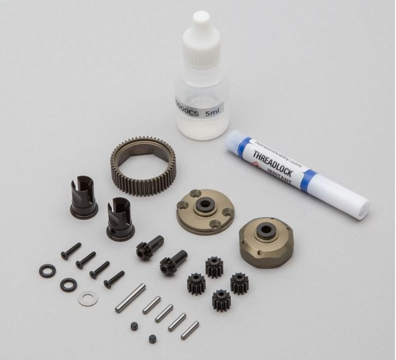 TLR TLR332067 - Complete 2wd Gear Diff, Aluminum Gear (All 22)