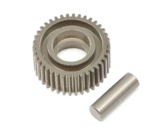 TLR TLR332070 - Aluminum Idler Gear & Shaft Laydown (22 4.0)