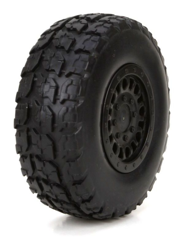 ECX 41001 - Front/Rear Pre-mount Tire, 2 pcs (1/18 4WD Torment)