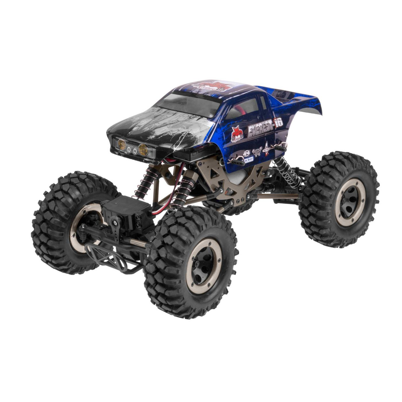 RedCat RER06899 - 1/16 Everest-16 4WD Rock Crawler Brushed RTR, Blue