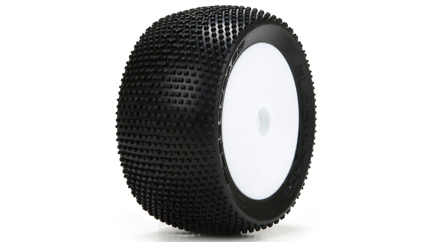 Team Losi LOS41004 - Blockhead Tires, Mounted (Mini 8T)