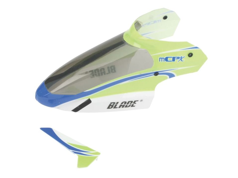 Blade BLH3519 - Complete Green Canopy with Vertical Fin: mCP S/X