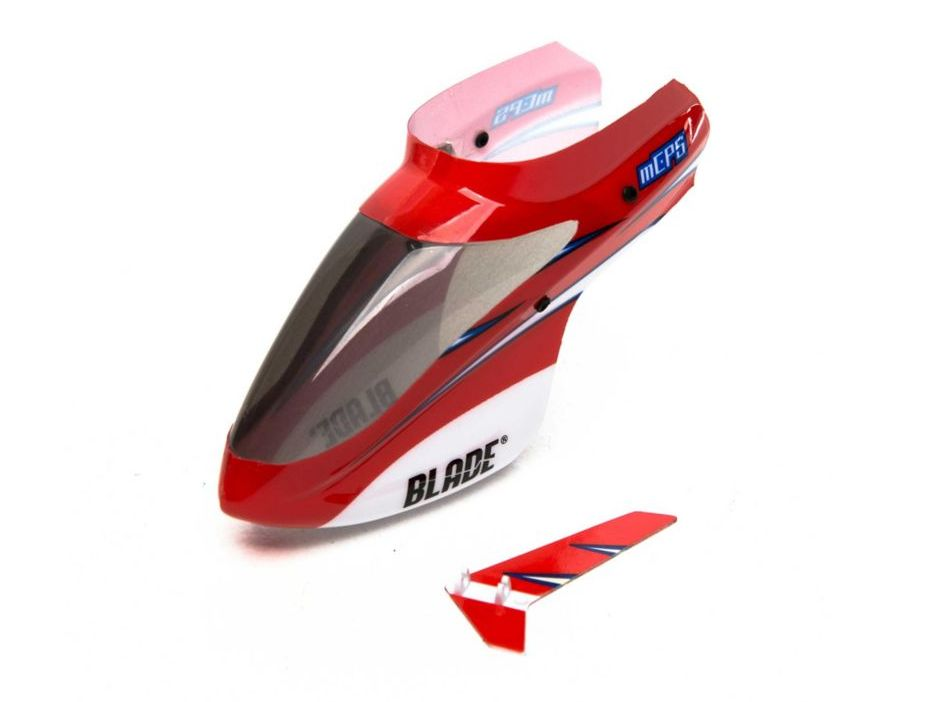 Blade BLH5103 - Complete Red Canopy with Vertical Fin (mCP S)