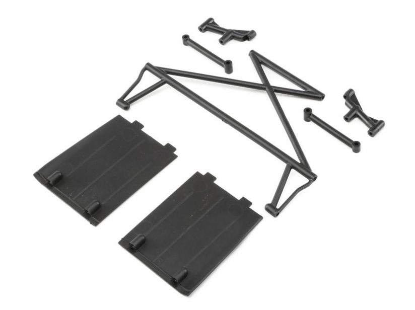 Losi LOS230029 - RR Twr Sup X-Bar Mud Guards (Rock Rey)