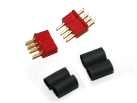 Deans 1242 - 4 Pin Connector Red