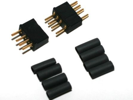 Deans 1241 - 4 Pin Connector Black