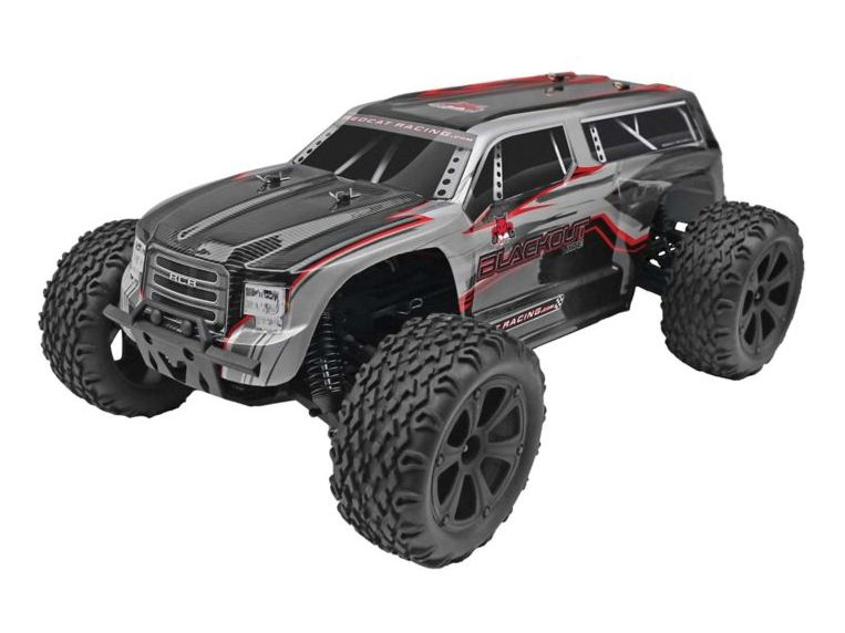 RedCat RER07011 - 1/10 Blackout XTE 4WD Monster SUV Brushed RTR, Silver