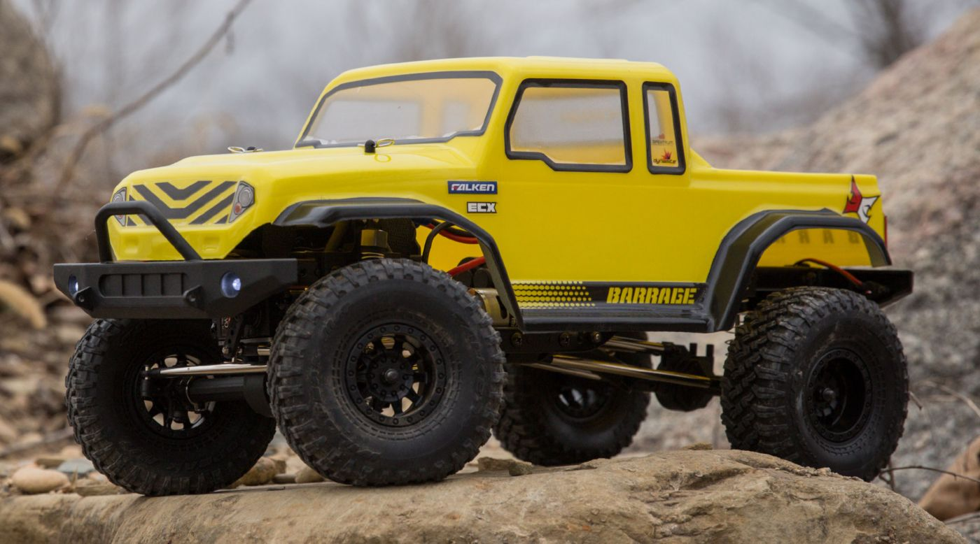 ECX ECX01013T2 - 1/12 Barrage Gen2 1.55 4WD Scaler Brushed RTR: Yellow