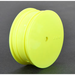 TLR 43010 - Front Wheel, 12mm Hex, Yellow (2): 22 3.0