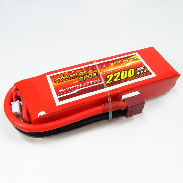 Dinogy 2200-3S-30C-T - LiPo Battery 11.1V 2200mAh 30C T-Plug