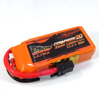 Dinogy 1000-3S-80C-XT60 - Graphene 2.0 Li-Po Battery 11.1V 80C 1000mAh XT60 Plug