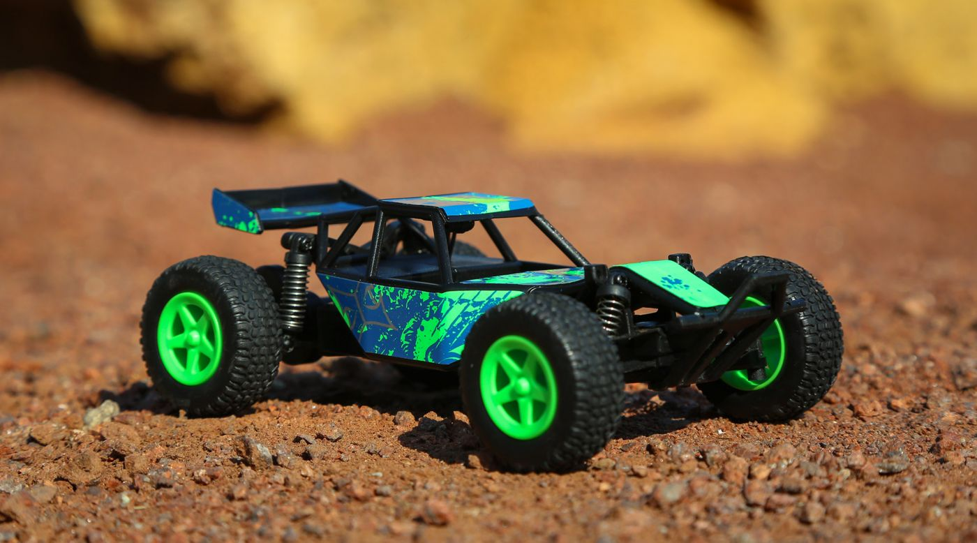 ECX 00007T1 - 1/28 Micro Roost 2WD Buggy RTR, Green