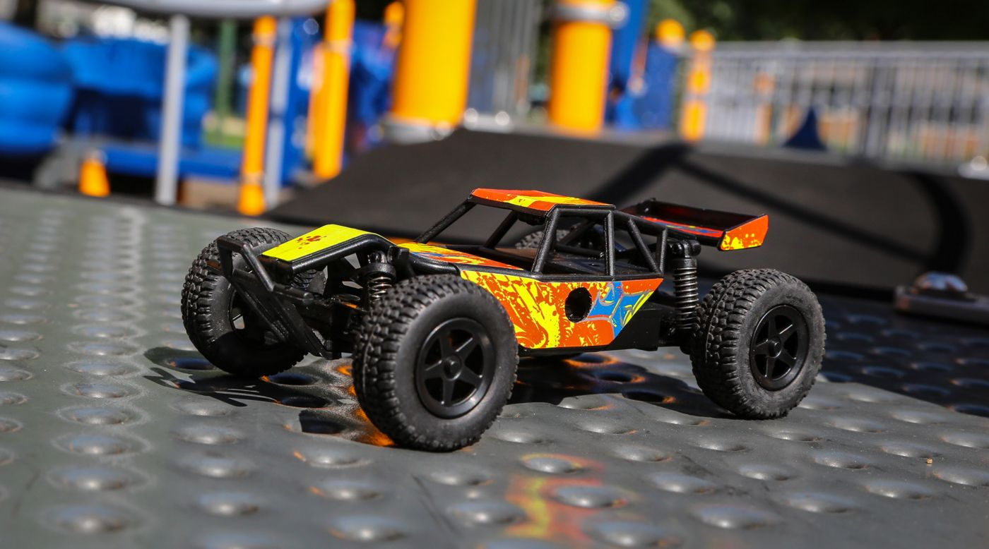 ECX 00007T2 - 1/28 Micro Roost 2WD Buggy RTR, Yellow