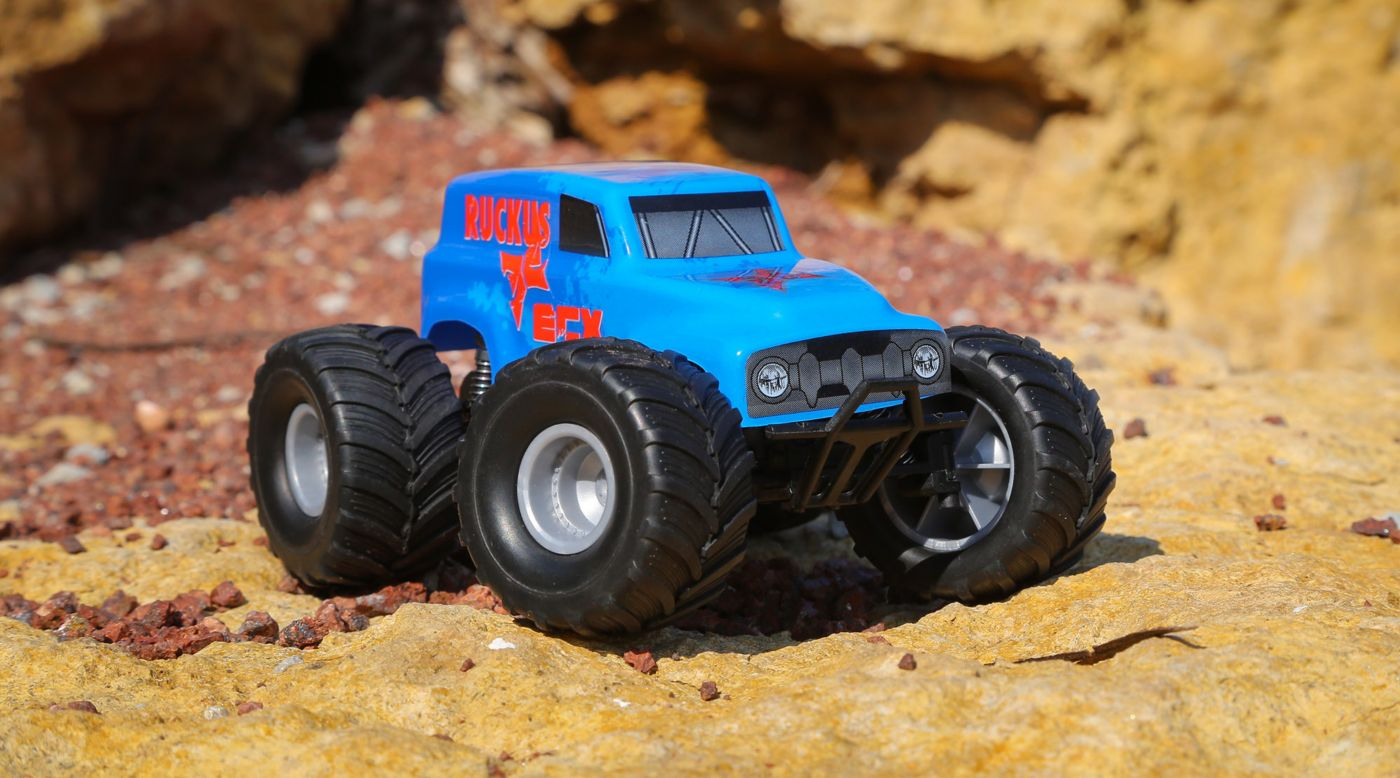 ECX 00008T1 - 1/28 Micro Ruckus 2WD Monster Truck RTR, Blue