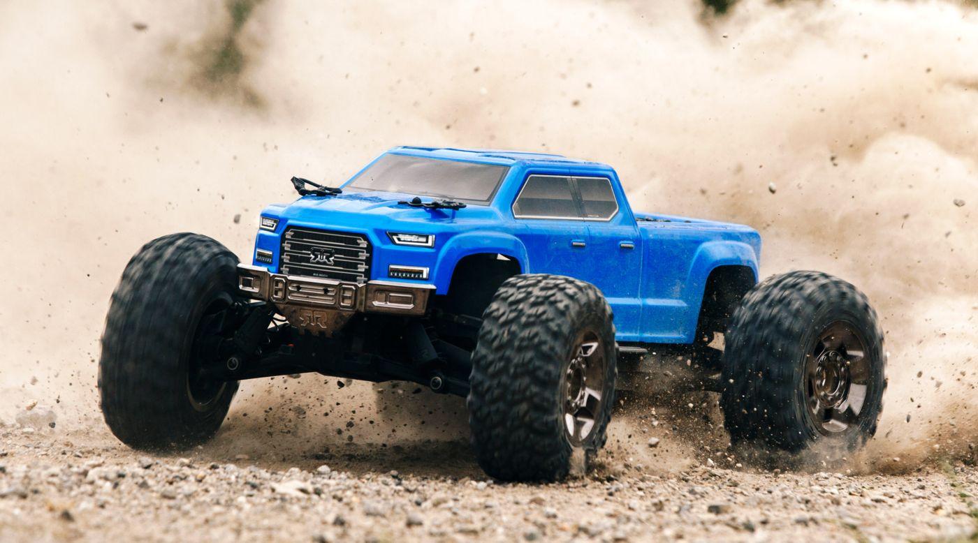 ARRMA ARA102711 - 1/10 BIG ROCK CREW CAB 4x4 3S BLX Brushless RTR, Blue