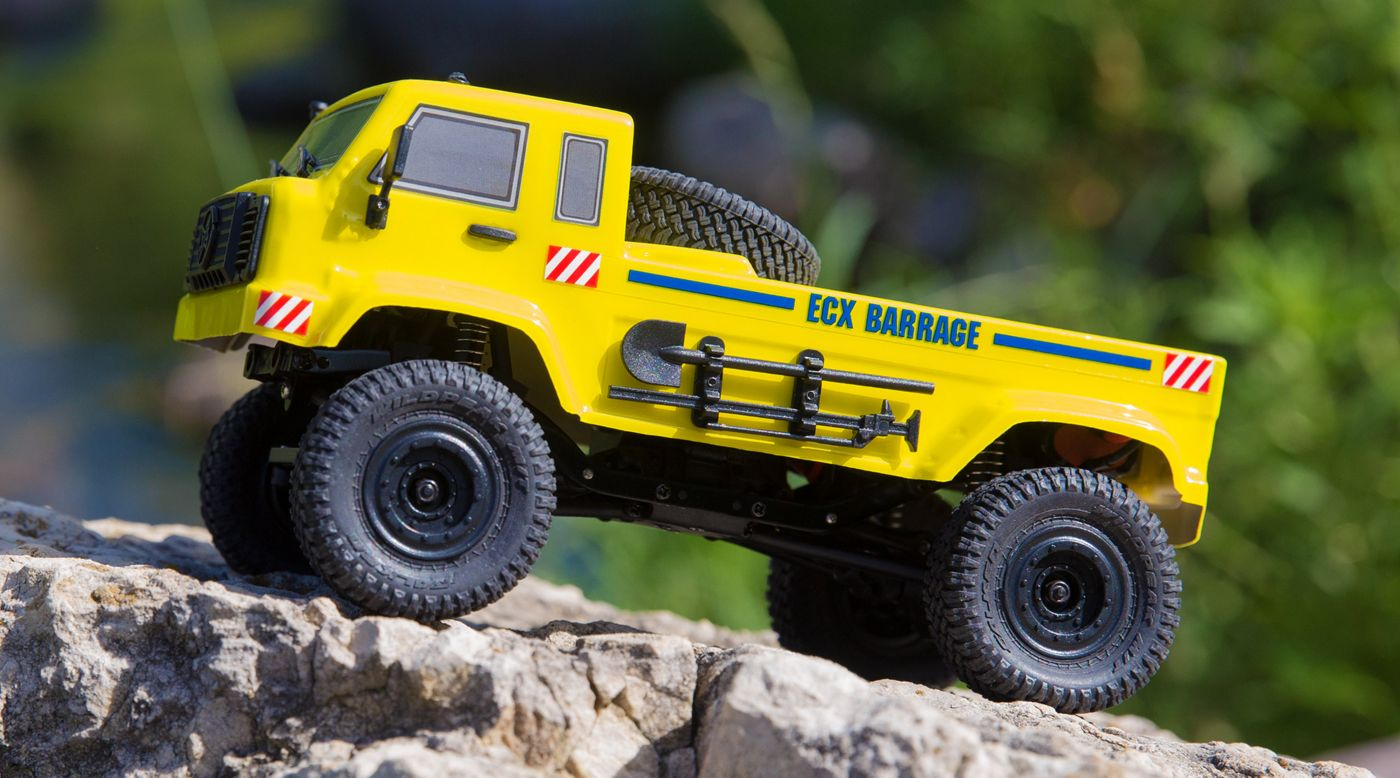ECX ECX00019T2 - 1/24  Barrage UV 4WD Scaler Crawler RTR, Yellow