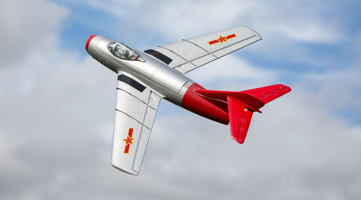 E-flite EFLU6050 - UMX MiG-15 28mm EDF Jet BNF Basic with AS3X and SAFE Select
